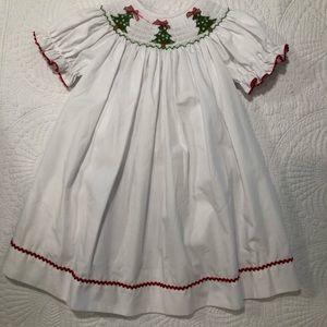 Christmas smocked Dress
